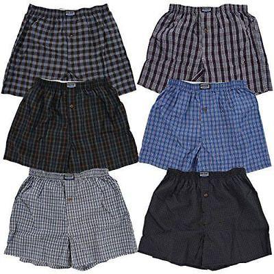 Mens Tartan Boxers - Lot 3-12 Mens Boxers Plaid Check Shorts Underwear Briefs Cotton Trunk Size S-4XL