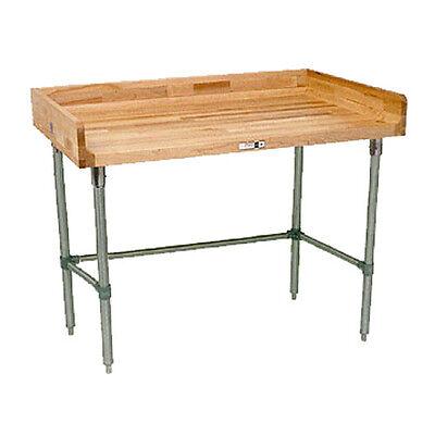 John Boos Dnb09 Wood Top Work Table 72 W X 30 D