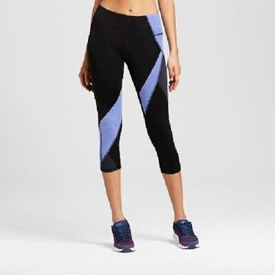 185378d5d31735 Champion C9 Womens Freedom Asymmetrical Capri Leggings XS X-SMALL Black &  Blue