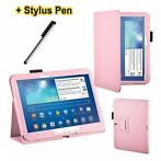Samsung roze Galaxy Tab 3 10.1 hoes map cover + stylus P5...