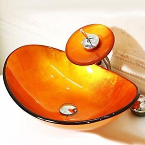 Brand New Arsumo Burnt Orange Waterfall Faucet