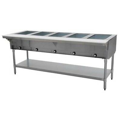 Eagle Group Dht5-208 79 Inch Electric Steam Table Open Well 5 Compartments