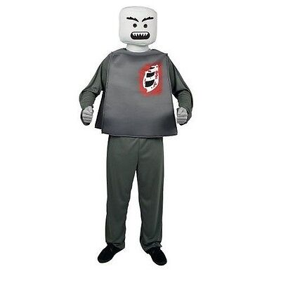 Mr. Blockhead Zombie Morph Costume LEGO Mini-Figure Halloween Adult One Size  - Lego Costume Adult