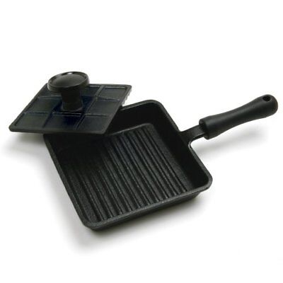 Norpro Mini Cast Iron Panini Pan with Press