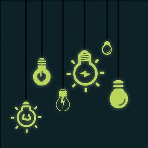 Glow-in-the-Dark-Light-Bulb-Vinyl-Wall-Stickers-Wall-Decals-Wall-Art