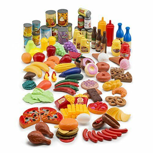 122-Piece Deluxe Kids Pretend Play Food Set Beautiful Toy Fo