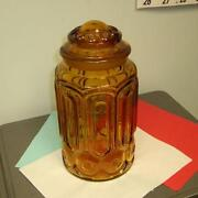 Amber Glass Canister