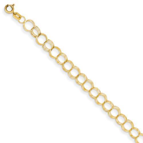 14k gold charm bracelet ebay