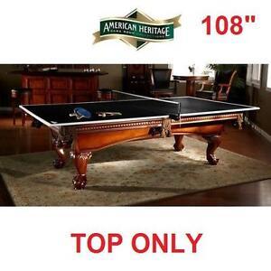 "NEW* AH CONVERSION TOP TENNIS TABLE - 116644933 - 108"" AMERICAN HERITAGE DROP SHOT PING PONG"