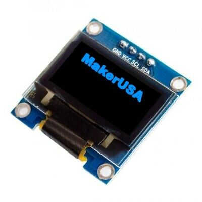 0.96 Adjustable I2c 128x64 Blue Oled Display Module For Arduino Raspberry Pi