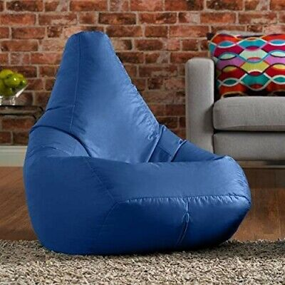 Bean Bag Chair Indoor/Outdooor Gaming Water Resistant For Adults or Kids Blue