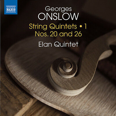 Onslow / Elan Quinte - Georges Onslow: String Quintets Vol 1 [New CD]