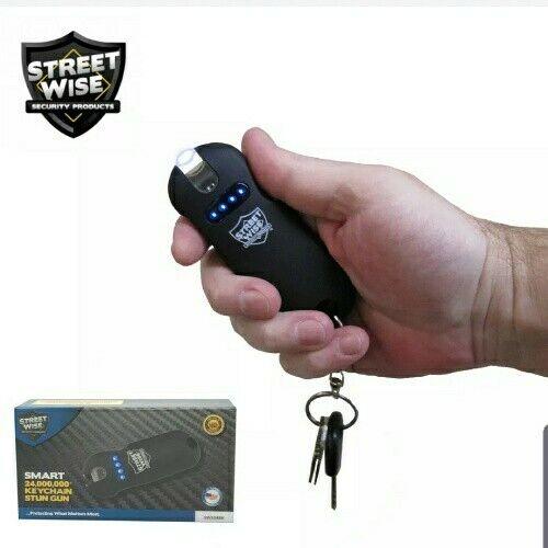 StreetWise Mini Smart 24,000,000 VOLT Keychain with LED Flashlight