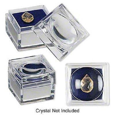 6 Dark Blue Foam Jars- 1x1x78-inch Magnifying 2x Gembug Jar Or Box
