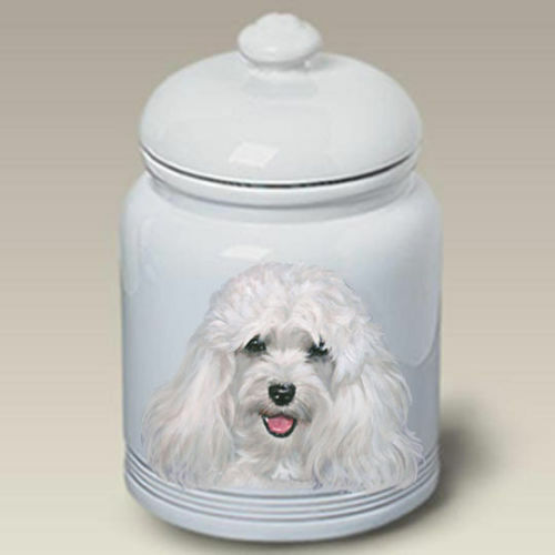 White Havanese Ceramic Treat Jar LP 45097