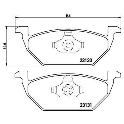 1 Bremsbelagsatz, Scheibenbremse BREMBO P 85 041 passend für AUDI SEAT SKODA VW