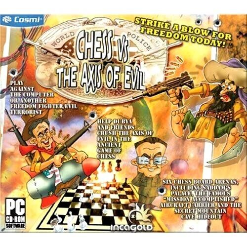 Computer Games - Chess Vs The Axis Of Evil PC Games Windows 10 8 7 XP Computer board game NEW
