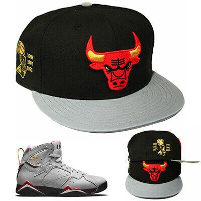 70b1b8b40d79 New Era Chicago Bulls Snapback Hat Match Air Jordan 7 Retro Reflective  Cardinal