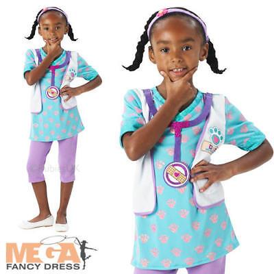 Doc McStuffin Girls Fancy Dress Animal Pet Vet Doctor Kids Childs Costume Outfit