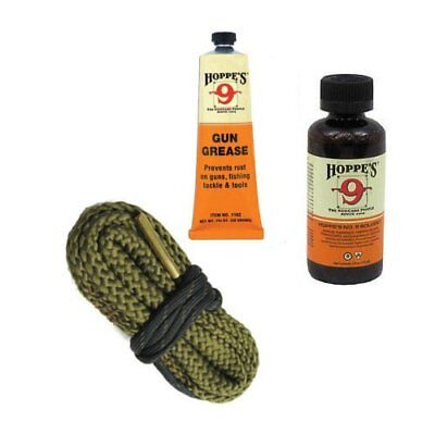 9mm .357 Gun Bore Cleaning Snake with Cleaner and Lubricating Gun Grease