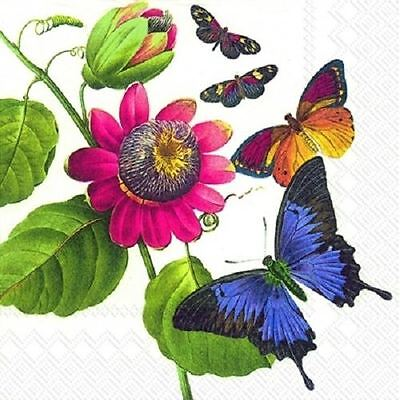4 x Paper Napkins - Butterflies - Ideal for Decoupage / Decopatch