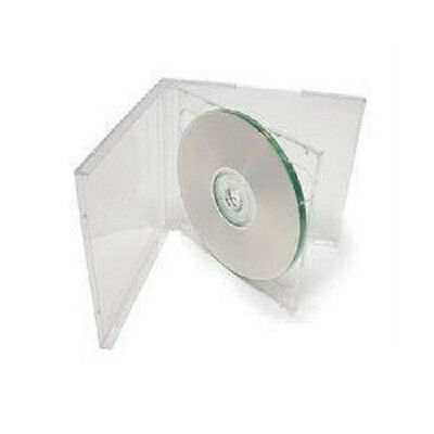 100 New Clear Double Standard Cd Dvd Jewel Case 10.2mm By Ups Ground