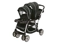 Gracio ready to grown duo pram with both seats older child seat rain cover built in buggy board
