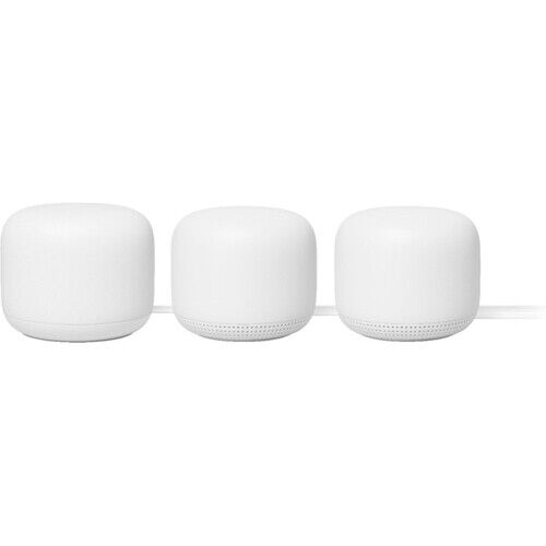 Google Nest Wifi System with Google Assistant 3-Pack - Snow