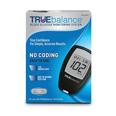 TRUE balance Blood Glucose Monitoring System No Coding