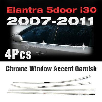 Chrome Window Accent Garnish Molding 4Pcs for HYUNDAI 2008-2012 Elantra Touring