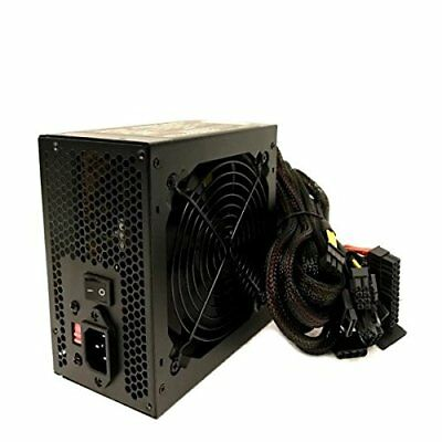 850W 850 Watt Gaming 120mm Fan Silent Mesh Wire ATX Power Supply PCIe SATA 12V