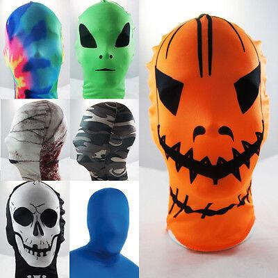 Lycra Spandex Full Face Hood Zentai Mask Halloween Superhero Costume Cosplay OS](Cosplay Superhero Costumes)