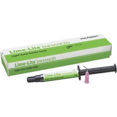 Pulpdent Lime-lite Enhanced Cavity Liner 3ml Syringe
