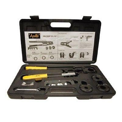 New Apollo 69ptkh0015k 4 In 1 Multi Head Pex Plumbing Crimping Tool Set 7044951
