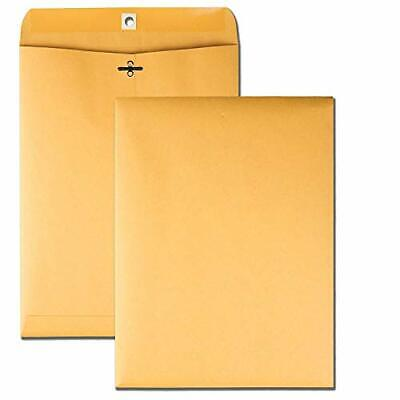Brown Kraft Catalog Clasp Envelopes With Clasp Closure Gummed Seal 9 X 12