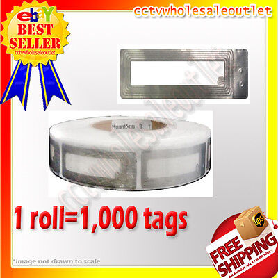 1000 Pcs Checkpoint Compatible Cosmetic Soft Labels Tag1 Roll 8.2mhz
