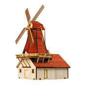Wooden Dutch Windmill