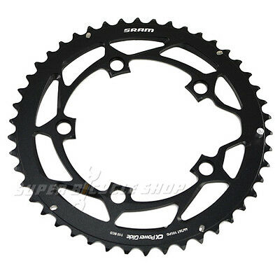 Black SRAM POWERGLIDE Chainring 50T BCD 110mm 95g