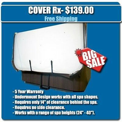 Cover Rx - Hot Tub Cover Lift / Spa Cover Lifter - Hydraulic Underspa Mount