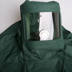 Canvas-Sand-Blasting-Hood-Abrasive-Grit-Anti-Wind-Cap-Mask-grinding-dust-Tools