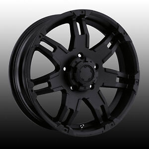 "20"" Wheel Set Toyota Tundra Sequoia Land Cruiser Matte Black 20"
