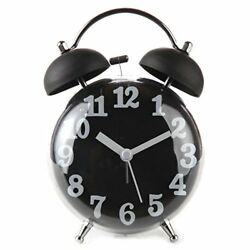 Lily's Home 4 Quiet Non-ticking Silent Quartz Twin Bell Alarm Clock With Loud