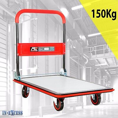 Promech Folding Platform Trolley Sack Trucks 150kg Capacity with Silent Wheels