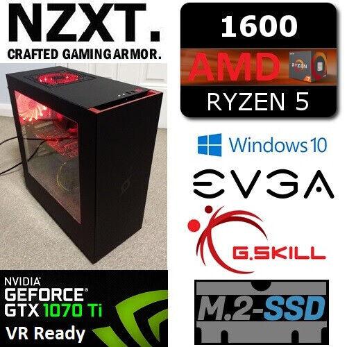 Hexa Core RYZEN 5 16GB RAM GTX 1070 Ti VR Ready Windows 10 Pro Gaming PC |  in Wath-upon-Dearne, South Yorkshire | Gumtree
