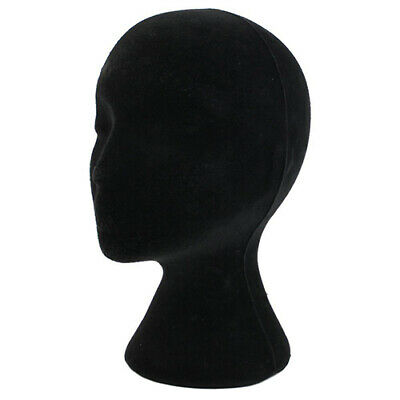 Black Female Styrofoam Foam Mannequin Head Model Wig Glasses Hat Display Stand