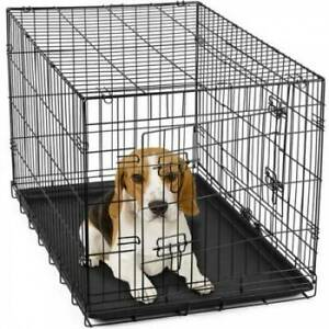 Dog Puppy Cat Pet Cage Kennel Collapsible Metal Crate 30""