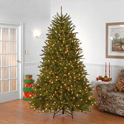 6 Ft Lit Xmas Tree Artificial Pre-strung Dunhill Fir National Tree Company
