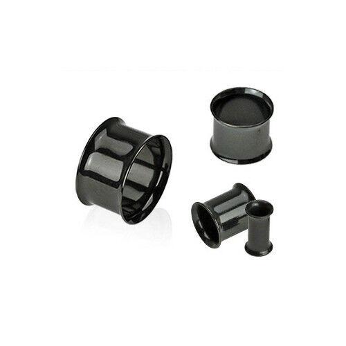 P#503 - 16pc Black Double Flare Tunnels 00g,0g,2g,4g,6g,8g,10g,12g wholesale lot