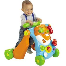 Bruin baby/toddler walker with interactive fascia.