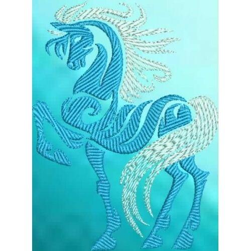 Embroidered Sweatshirt - Tribal Horse S2-04 Sizes S - XXL